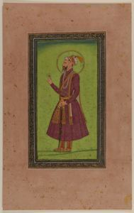 Image of Bearded Nobleman Holding Flower or Jewel