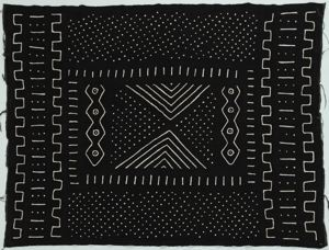 Image of Mud cloth with abstract black and white designs