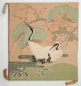 Image of Fukusa-Cranes, Pines and Cherry Blossoms