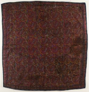 Image of Brocade square with paisley motif