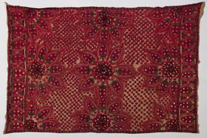 Image of Cloth with stylized flowers