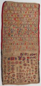 Image of Sampler with alphabet and floral designs