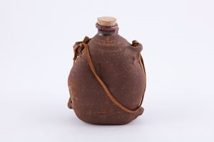 Image of Canteen style vase with cork and strap