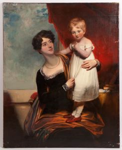 Image of Portrait of Mother and Child