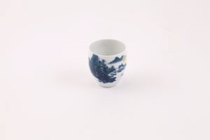 Image of Blue and white cup