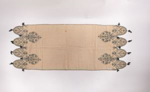 Image of Linen textile with fringe