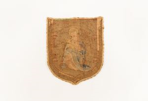 Image of Back of priest's garment with image of Madonna and Child