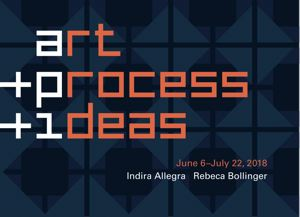 Go to exhibit page for Art + Process + Ideas: Indira Allegra and Rebeca Bollinger