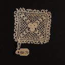 Image of Lace square medallion, handmade