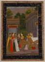 Image of A Royal Woman Dressing With Five Maidservants in Attendance