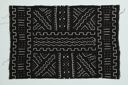 Image of Bamana mud cloth with black and white geomectric abstract designs