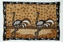 Image of Bamana Cloth with Two Ostriches