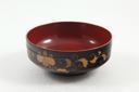 Image of Black and Gold Lacquer Set: Bowl