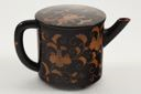 Image of Black and Gold Lacquer Set: Tea Pot