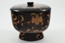 Image of Black and Gold Lacquer Set: Bowl and Lid