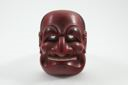 Image of Kyogen Buaku Mask, brick red human face