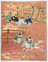 Image of Fukusa--Courtiers Watching a Contest of Horsemanship