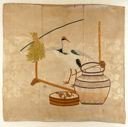 Image of Fukusa-A Crane, Rice Sheaf and Sake Vat