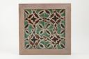 Image of Tile with geometric pattern