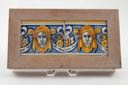 Image of Tile with two classical masks