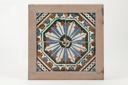 Image of Tile with Moresque floral pattern