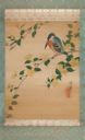 Image of Scroll Painting: Bird on Flowering Branch