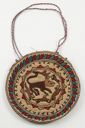 Image of Embroidered circular bag with animal design
