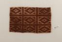 Image of Pre-Columbian textile fragment with diamond shapes