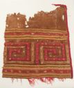 Image of Pre-Columbian textile fragment with floral motif