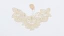 Image of Lace inset: duchesse lace in shape of butterfly