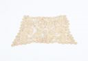 Image of Lace cuff: flowers with heavy borders and stems, joined with brides