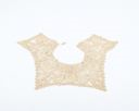 Image of Lace collar: flowers with heavy borders and stems, joined with brides