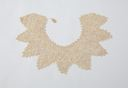 Image of Lace collar: white Irish crochet, circular with points
