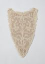 Image of Lace front: point de Venise or Burano point with formal floral pattern and cotton lining