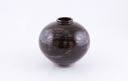 Image of Black tenmoku glazed vase