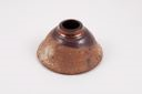 Image of Bell shaped vase with copper and brown glazes
