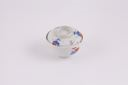 Image of Porcelain rice bowl and cover with underglaze blue and enamel decoration