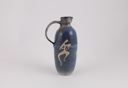 Image of Blue Engobe Stoneware Jug Decorated in White with Human Forms