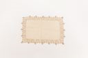 Image of Doily in beige linen with light brown embroidery
