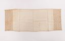 Image of Ecru linen runner with embroidered end panels